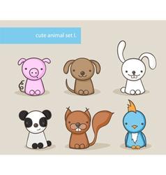 animal set 1 vector image vector image
