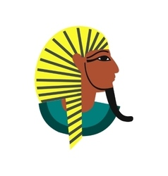 Egyptian pharaoh icon flat style vector image vector image