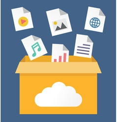File storage in cloud vector
