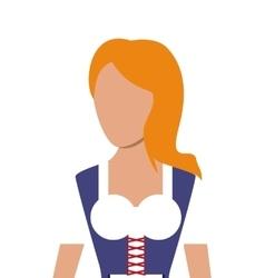 german bavarian woman icon vector image