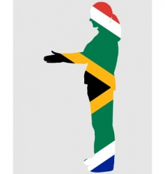 salute from South Africa vector image vector image