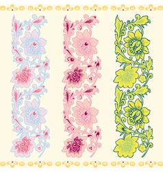 Seamless vertical pattern with a flower vector image