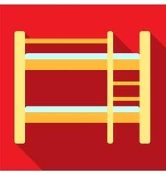 Bunk bed flat icon vector image vector image