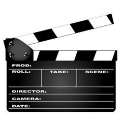 clapperboard vector image