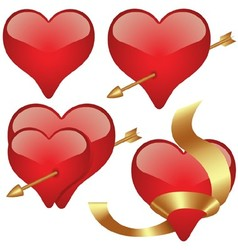 Glass Heart Collection vector image