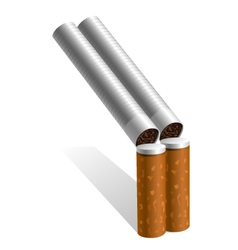 gun out of cigarettes vector image