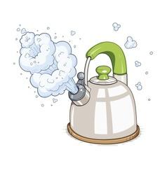 Kettle boil vector image vector image