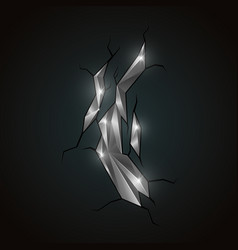 metallic abstract polygonal mineral vector image vector image