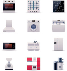 Part one of domestic appliances set vector image vector image