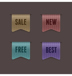 quality ribbons vector image