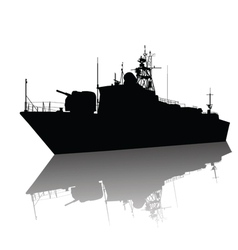 ship detailed silhouette vector image