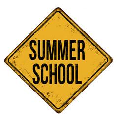 summer school vintage rusty metal sign vector image vector image