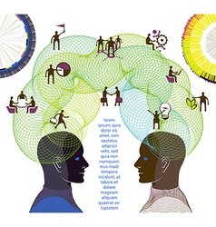 Business concept of collaboration teamwork and vector image