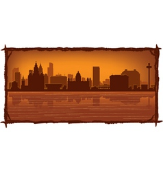 liverpool england skyline vector image vector image