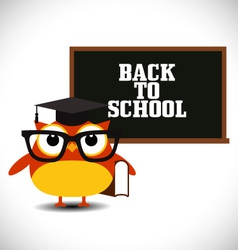 Owl with blackboard vector image vector image