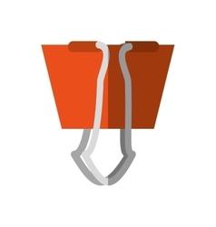 paper clip supplies shadow vector image