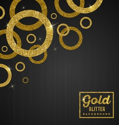 Background with glitter golden rings vector image vector image