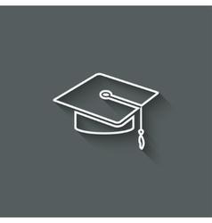 Graduation cap design element vector image