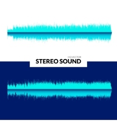 HQ sound waves Music waveform background vector image vector image