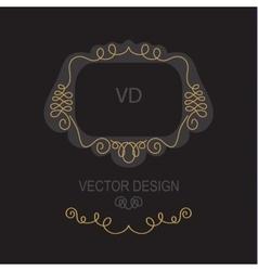 Premium Art Nouveau frame copy space for text in vector image