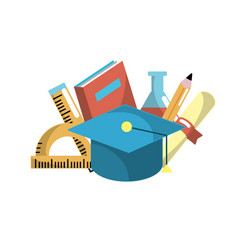 school tool elements to education study vector image vector image