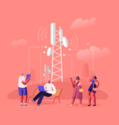 5g network wireless technology concept people at vector image