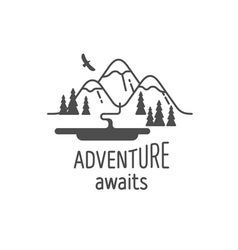 Adventure awaits vector image vector image