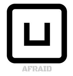 afraid conceptual graphic icon vector image