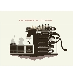 air pollution environment and natural resources vector image