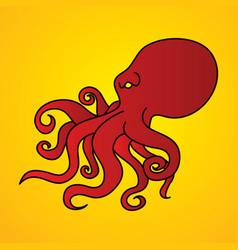 Angry octopus graphic vector