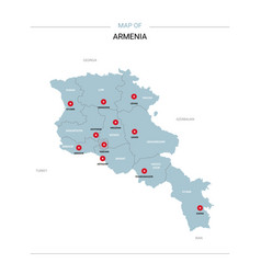 Armenia map with red pin vector