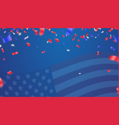 background banner for 4th july independence day vector image