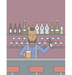 Barman in the pub vector