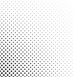 Black and white pentagram pattern background vector image