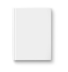 Blank book template with soft shadows vector image