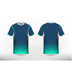 blue green and white layout e-sport t-shirt vector image