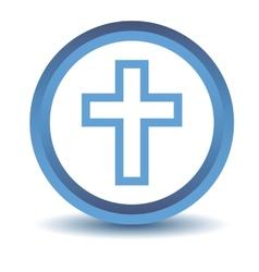 Blue Protestant Cross icon vector