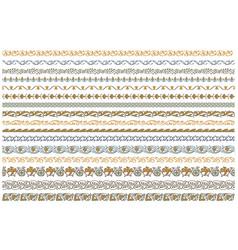 border seamless color pattern set vector image