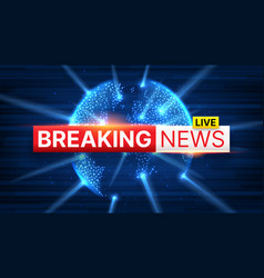 Breaking news banner concept vector