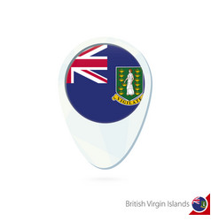 British virgin islands flag location map pin icon vector
