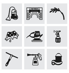 Car wash icon set vector