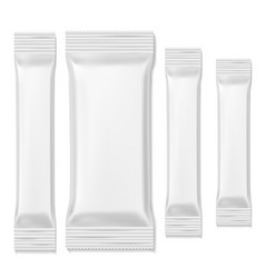 Chocolate bar packs biscuits white packing sticks vector