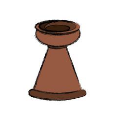 Clay pot isolated vector