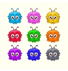 Colorful characters vector image