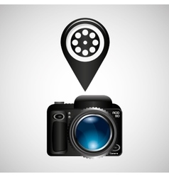 digital photo camera reel film pin vector image vector image