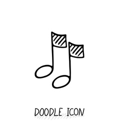 Doodle multimedia musical note icon Sound vector image