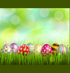 easter realistic background vector image