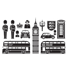 England London UK set of icons vector image