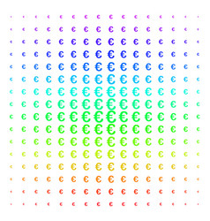 euro symbol icon halftone spectral pattern vector image