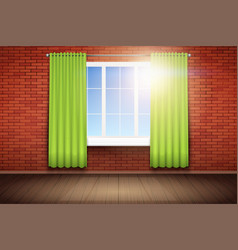 Example of empty room with window vector